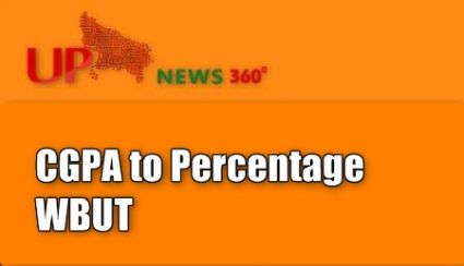 CGPA to Percentage WBUT