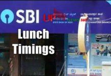 SBI Lunch Timings