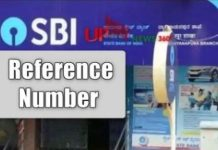 SBI Reference Number